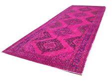 "12'5"" x 5'  Vintage PINK FUCHSIA OUSHAK COLOR REFORM Overdyed carpet rug RUNNER"