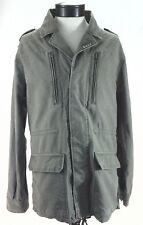 OBEY Propaganda Military Green Field Jacket Cargo Pockets Button Up Coat Mens XL