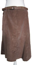 New Womens Marks & Spencer Per Una Brown Cord Skirt Size 16 DEFECTS