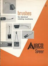 MRO Brochure - Airco Speer - Brushes for Electrical Rotating Machinery (MR212)