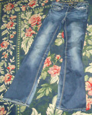 GUC womens juniors Vanity jeans 26 w x 33 long distressed ornate back pockets