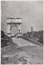 D5539 Lorenzo Delleani - Susa - Arco Romano - Stampa d'epoca - 1932 old print