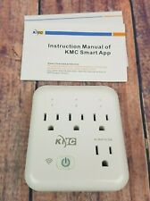 KMC 3 Outlet Wall Mount Surge Protector 1200 Joules