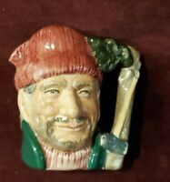 "1966 Royal Doulton England ""The Lumberjack"" Toby Jug Character D6613 Medium 4"""