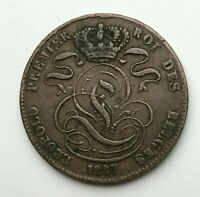 Dated : 1837 - Belgium - Five Centimes - 5 Cent Coin - Leopold I