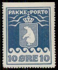 Greenland #Q4a (P3) 10ore Pakke Porto, p. 12 ½ 3 sides, og, Lh, Xf, Facit $850.