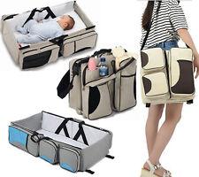 Baby 3 In 1 Mummy Nappy Diaper Bag Travel Bassinet Cot Change Station Handbag