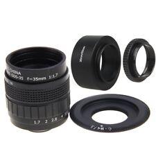 Fujian 35mm F1.7 CCTV cine lens+C Mount +Hood to Micro M4/3 E-PM1 OM-D EM5 E-M10