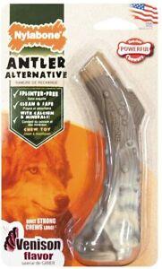 Nylabone Power ANTLER ALTERNATIVE Dog Chew  Med or Large VENISON FLAVORED