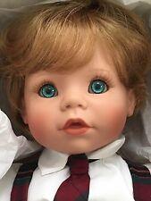 "Susan Wakeen American Artist 19"" Adorable Boy Nicholas Baby Doll MIB with COA"