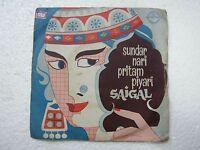 K L SAIGAL MANZIL PRESIDENT HINDI FILM SONG rare EP RECORD 45 vinyl INDIA EX