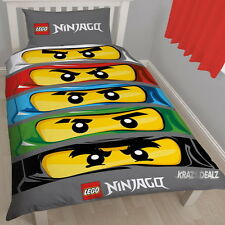 Lego Ninjago Eyes Single Panel Duvet Cover Bed Set New Gift