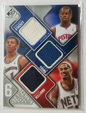 2009-10 SP Game Used Star Swatches (6) Stuckey, Young, Williams, Belinelli Smith