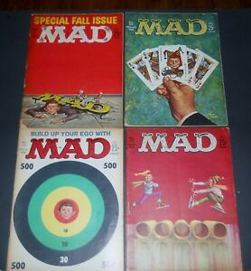 MAD MAGAZINE! CLASS OF '62! 4 OF 'EM, PRETTY NICE!