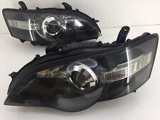 BLACK HEADLIGHTS JDM Subaru LIBERTY BPE BP5 BL5 STI HID Head Lamps LEGACY 03-05