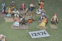 25mm napoleonic / french - revolutionary war rebels 15 figs - inf (12976)