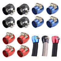 4Pc 6/8/10AN Hex Hose Finisher Clamp Hose Pipe Clamp Hose Fittings for Fuel Hose