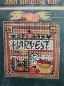 Mill Hill Autumn Buttoned And Beaded Kit MHCB167 Harvest NEW 2001 Cross Stitch