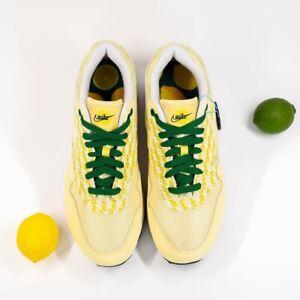 Nike Air Max 1 PM Powerwall Edition Shoes CJ0609 700 Lemonade Pine Green Sz 10