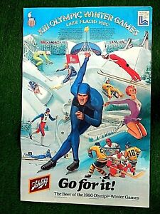 Schlitz XIII Olympic Winter Games Lake Placid  Poster