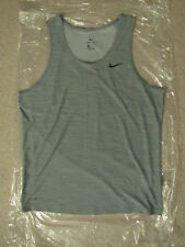 Men's Nike Blue/Gray Breathe Running Dri-Fit Tank Top Size Medium