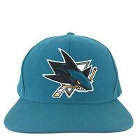 San Jose Sharks Mitchell Ness Hat Bite Logo Snap Back NHL Hockey Baseball Cap