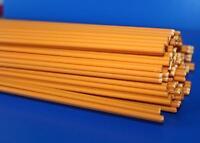 Kunststoffschweißdraht PVC Zwilling orange Rund 2x3mm  10 Stäbe