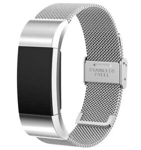 Metal Replacement Band for Fitbit Charge 2 Adjustable Secure Strap Wristband