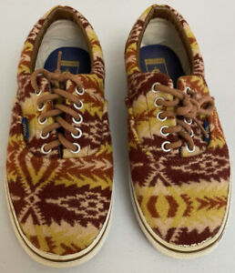 Pendleton Vans Shoe Tribal Aztec Design Wool Unisex Size 8 / 9.5 VERY GOOD COND