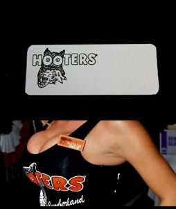 Hooters Uniform Blank Silver Name Tag Pin Back Dress Role Play Costume Accessory