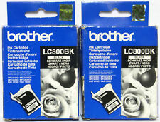 Brother LC 800 / LC800 Genuine Black Cartridge. Twin / Two Pack. New / Sealed.