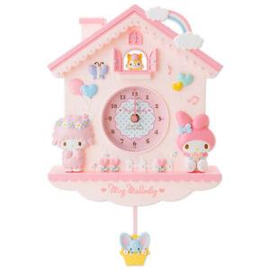 My Melody Pink Wall Clock Girls Home Living Room Decorative Gift Pendulum Clock