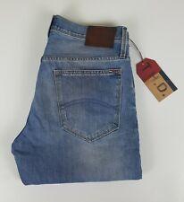 """Mens Tommy Hilfiger Denim """"Ryan"""" Jeans W33 L32 Regular Fit Blue Distressed BNWT"""