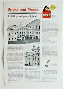 Bricks and Pieces LEGO Newsletter No.3 dated Christmas 1976 - A3 Folded = A4