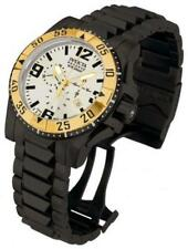 INVICTA RESERVE MENS 50MM EXCURSION CHRONOGRAPH GOLD BLACK BRACELET WATCH 14037