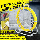 4.5T Fiberglass Wire Cable Running Rod Duct Rodder Puller 130m Fish Tape 6mm