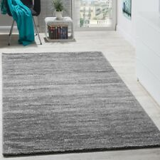 Tapis Design Poils Courts Fil Brillant Abstrait Ornements Gris Anthracite Blanc