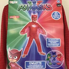 PJ Masks Owlette 3T 4T XS Child Costume Toddler Red Dress Up Outfit Disguise New