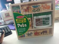 Melissa And Doug Wooden Stamp Set: Pets. *STILL SEALED*