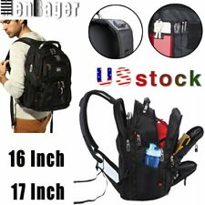 15.6''/17'' Laptop Swiss Multifunctional Backpack Travel USB Charge School bag