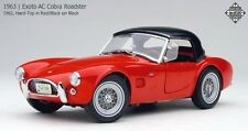 Exoto 1/18 1963 AC Cobra Roadster Red w/ Black Hard Top RLG18129