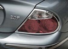 Jaguar S-Type Taillight Chrome Trim Set 1999 2000 2001 2002 2003 2004 Tail Light