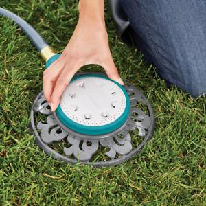 Outdoor Stationary Sprinkler 1225 Sq Ft 8 Pattern Durable Garden Watering Tool