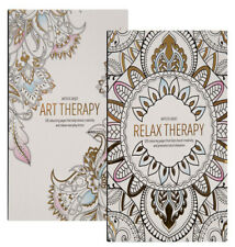A4 120 Page Adult Children Anti-Stress Colour Therapy Colouring Book Relaxing