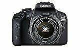 Canon EOS 2000D 24,1 Mpix Appareil Photo Reflex Numérique Kit avec EF-S 18-55mm f/3,5-5,6 IS II Objectif - Noir