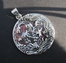 LUNA   GODDESS of the MOON pendant.STERLING SILVER designed by Oberon Zell