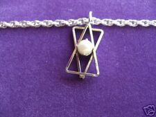 22ct GOLD PLATE or 925 SILVER CHAIN CULTURED PEARL CHARM ANKLET