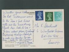 York. 1970's  multiview franked postcard q255