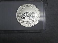 1 1/2 - 1.5  oz .9999 Fine Silver polar bear coin round