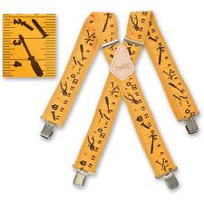 "Brimarc Mens Braces Heavy Duty Suspenders 2"" 50mm Wide Yellow Tape Braces"